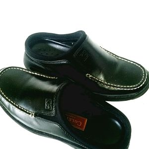 Cole Haan Nike Air Black Leather Loafers Slip On
